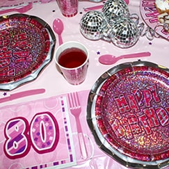 Pink Glitz 80th Birthday
