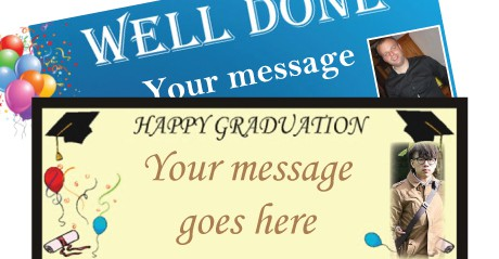 Graduation Personalised Banners