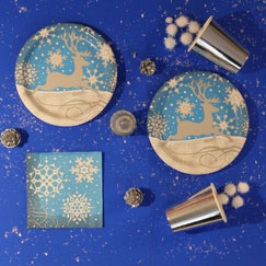 Christmas Silver Snowflake Party Supplies