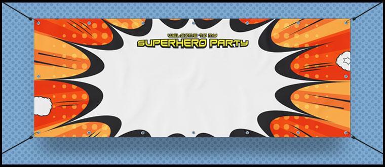 Superhero Personalised Banners