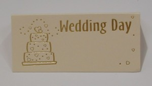 Wedding Cake Ivory Place Cards - Pack of 10