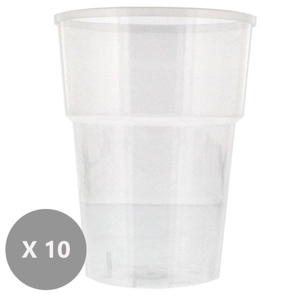 Plastic Pint Glasses - 20oz / 568ml - Pack of 10