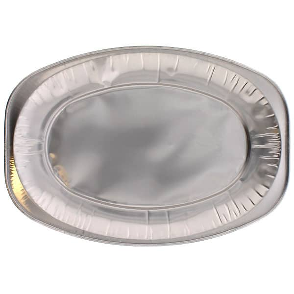 Small Oval Foil Platters - 14 Inches / 35cm - Pack of 10