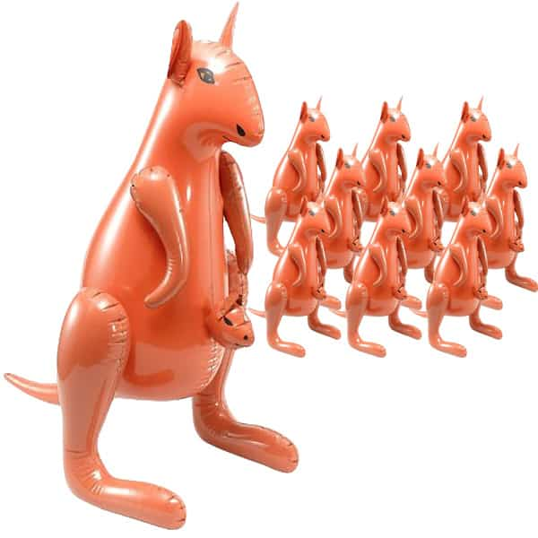 Inflatable Kangaroo With Baby - 31.5 Inches / 85cm - Pack of 10 Product Image