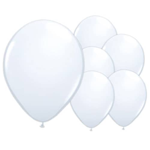 Iridescent White Biodegradable Latex Balloons - 12 Inches / 30cm - Pack of 100