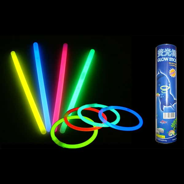 Assorted Glow Sticks - 8 Inches / 20cm - Pack of 100