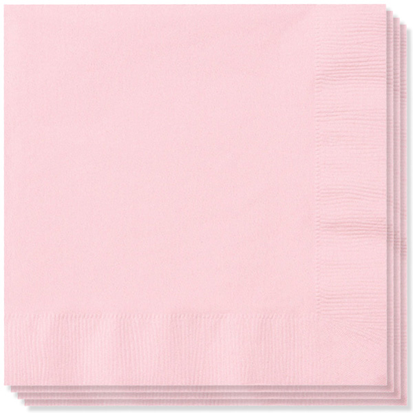 Pink 2 Ply Napkins - 13 Inches / 33cm - Pack of 100
