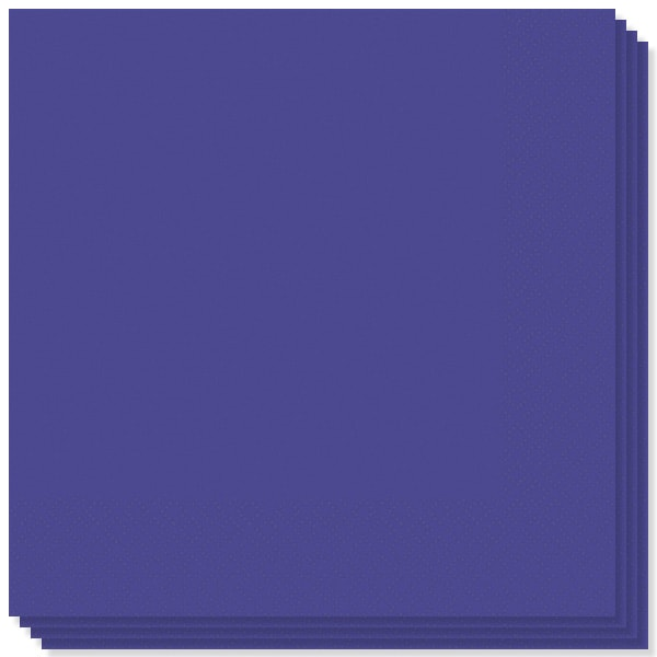 Purple 2 Ply Napkins - 13 Inches / 33cm - Pack of 100