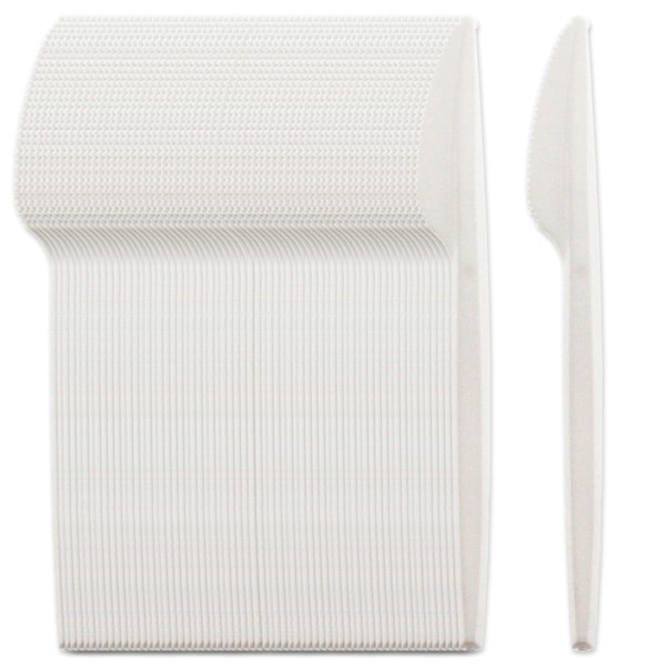 White Plastic Knives - Pack of 100