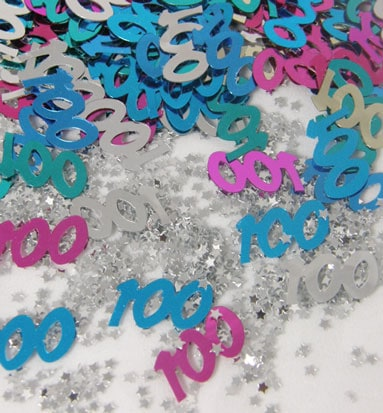 100th Birthday Assorted Table Confetti - 14 Grams Product Image