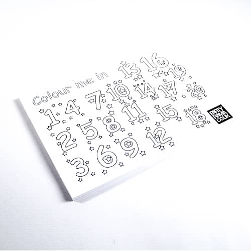 123 Colouring Themed A4 Colouring sheet