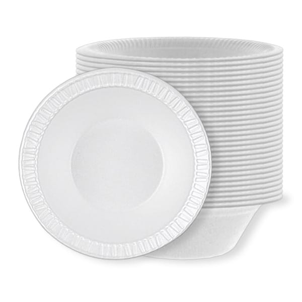 White Poly Bowls - 8oz / 236ml - Pack of 125