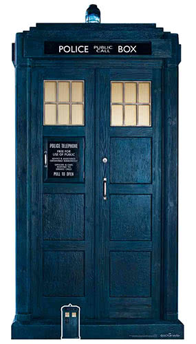 13th Doctor Who The Tardis Iconic Time Travel Lifesize Cardboard Cutout 195cm Product Image