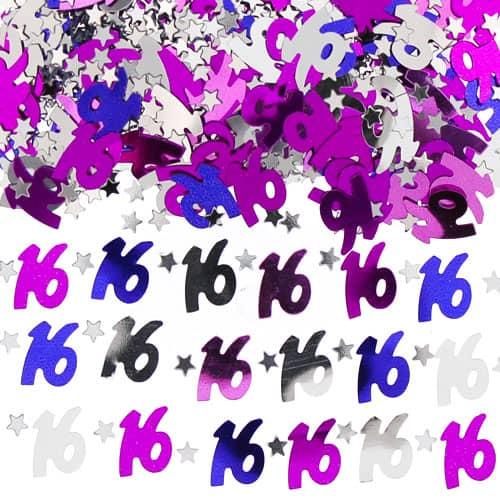 16th Birthday Pink Table Confetti - 14 Grams
