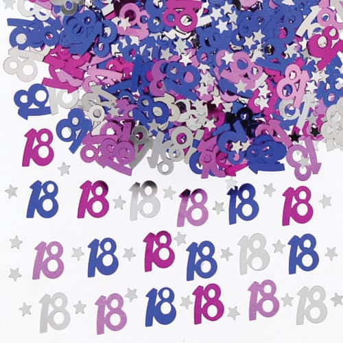 18th Birthday Pink Table Confetti - 14 Grams