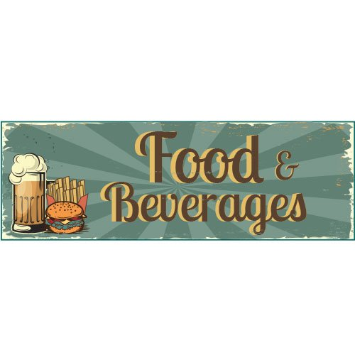 1950s Food And Beverages PVC Party Sign Decoration 60cm x 20cm Product Image