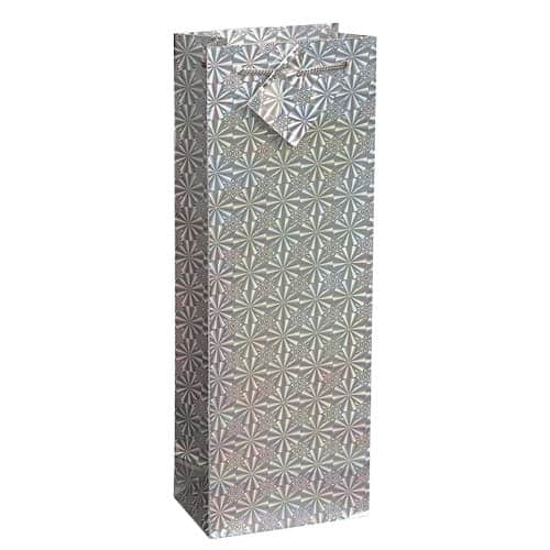 Assorted Christmas Holographic Bottle Gift Bag 36cm Product Gallery Image