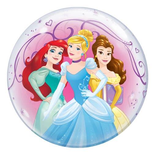Disney Princesses Bubble Helium Qualatex Balloon 56cm / 22 in Product Gallery Image