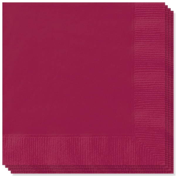 Burgundy 2 Ply Napkins - 13 Inches / 33cm - Pack of 20