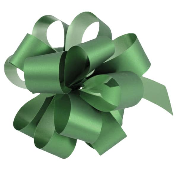 Green Pull Bows - Pack of 20