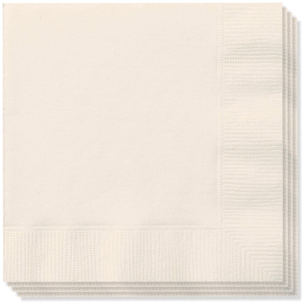 Cream 2 Ply Napkins 33cm - Pack of 20 Bundle Product Image