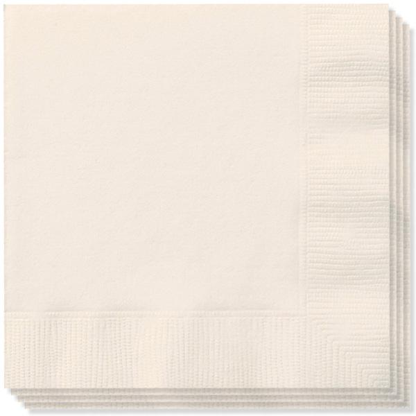 Cream 2 Ply Napkins 33cm - Pack of 20