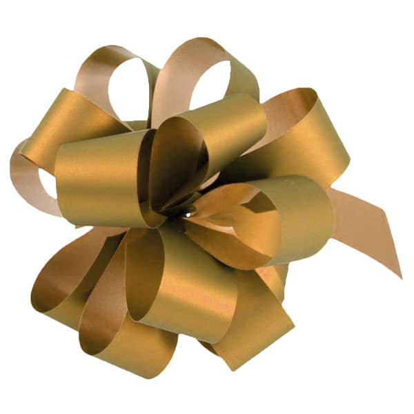 Metallic Gold Pull Bows - Pack of 20 Product Image