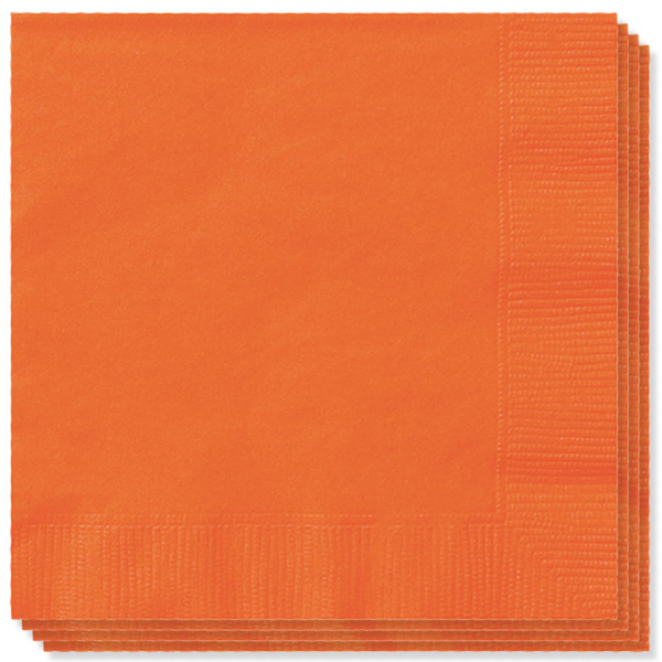 Orange 2 Ply Napkins - 13 Inches / 33cm - Pack of 20 Product Image