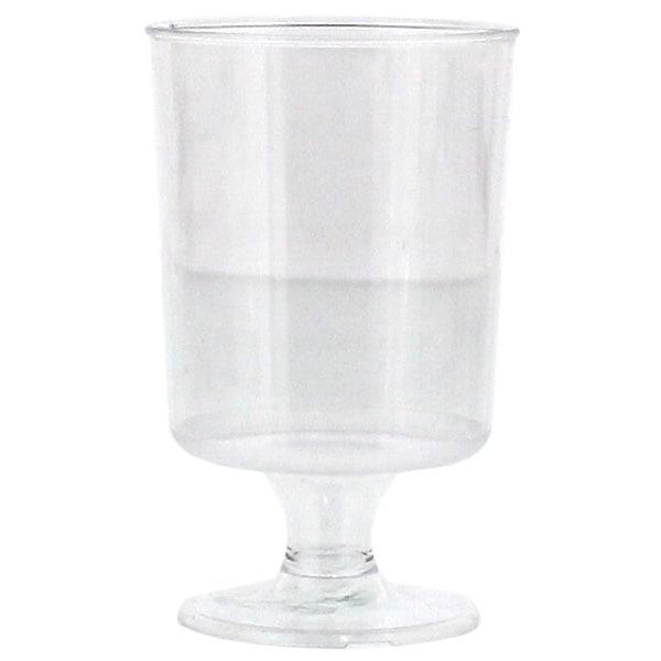 Stemmed Tasting Plastic Liquor Glasses – 47ml – Pack of 20