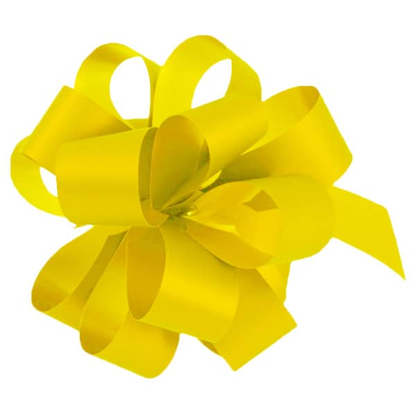 Yellow Pull Bows - Pack of 20 Product Image