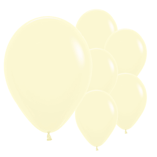 Pastel Matte Yellow Biodegradable Latex Balloons 30cm / 12 in - Pack of 50 Product Image