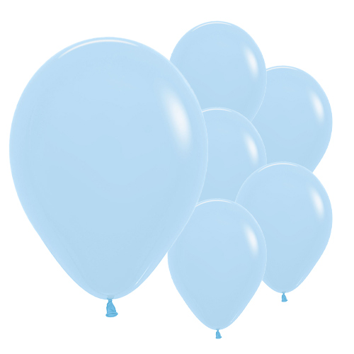 Pastel Matte Blue Biodegradable Latex Balloons 30cm / 12 in - Pack of 50 Product Image