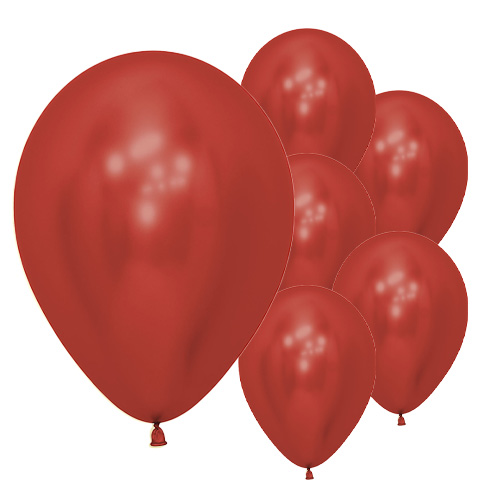 Reflex Crystal Red Biodegradable Latex Balloons 30cm / 12 in - Pack of 50 Product Image