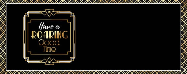 20s Roaring Good Time Design Small Personalised Banner – 4ft x 2ft