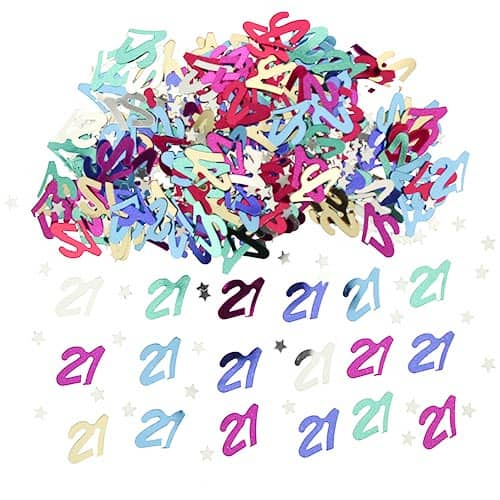 21st Birthday Assorted Table Confetti - 14 Grams Product Image