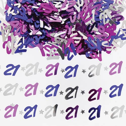 21st Birthday Pink Table Confetti - 14 Grams