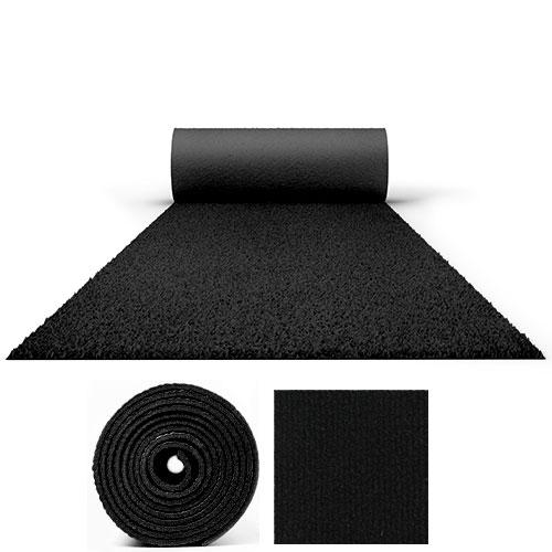 25 Metres Prestige Heavy Duty Black Carpet Runner 2 Metres Wide Product Image