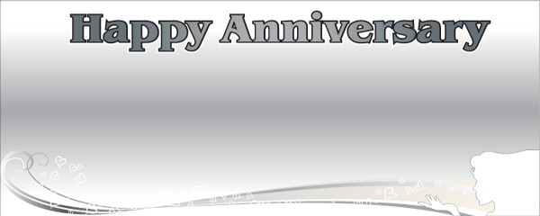 Happy Anniversary Lady & Hearts Design Large Personalised Banner - 10ft x 4ft