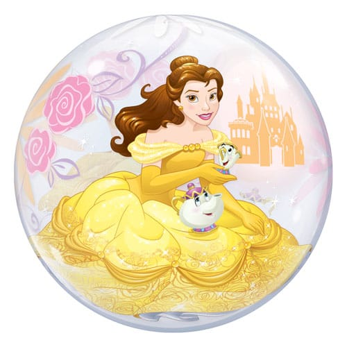 Disney Beauty And The Beast Belle Bubble Helium Qualatex Balloon 56cm / 22 in Product Gallery Image
