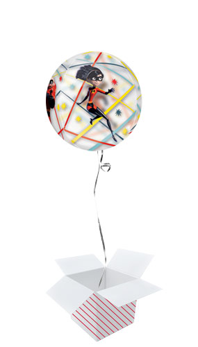 Incredibles 2 Orbz Foil Helium Balloon - Inflated Balloon in a Box Product Gallery Image