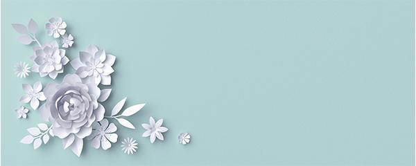 3D Flowers Design Medium Personalised Banner – 6ft x 2.25ft