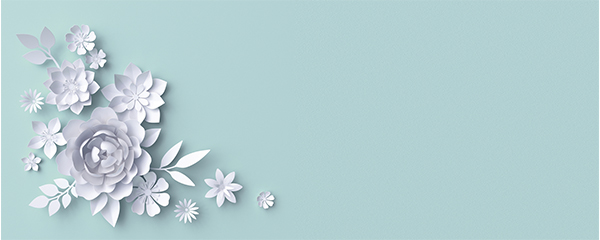 3D Flowers Design Small Personalised Banner – 4ft x 2ft
