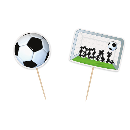 Football Cake Toppers - Pack of 6 Product Image