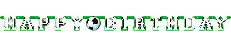 3D Football Happy Birthday Add An Age Cardboard Jointed Letter Banner 213cm Product Image
