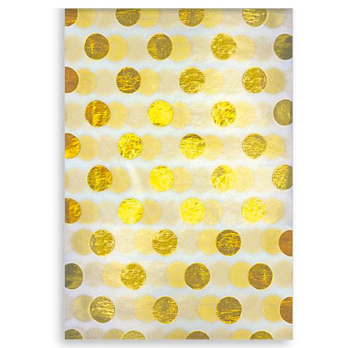 Gold Foil Dots Christmas Tissue Paper - Pack of 3