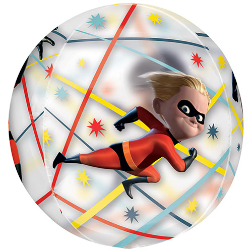 Incredibles 2 Orbz Foil Helium Balloon 38cm / 15 in Product Gallery Image