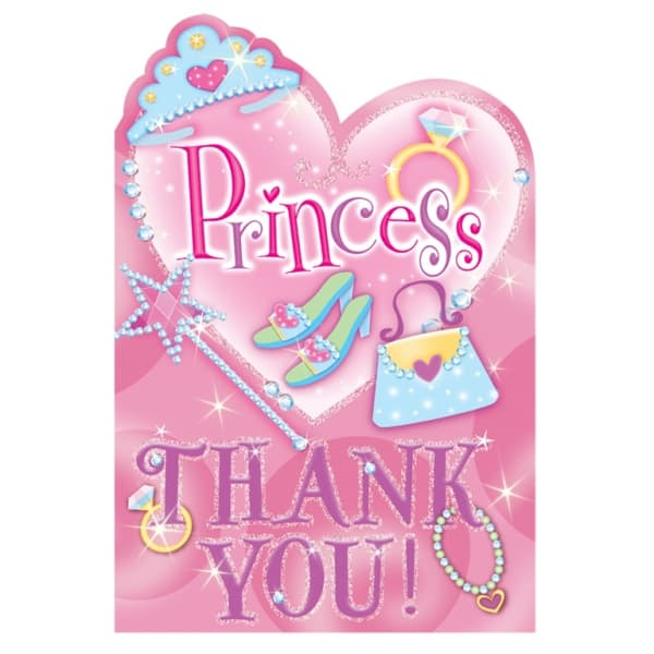 Prismatic Princess Thank You Notes with Envelopes - Pack of 8