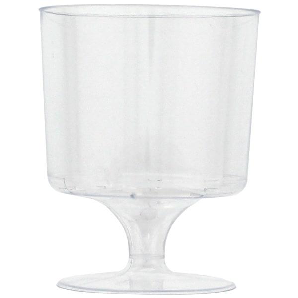 Plastic Wine Glasses - 5oz / 148ml - Pack of 8