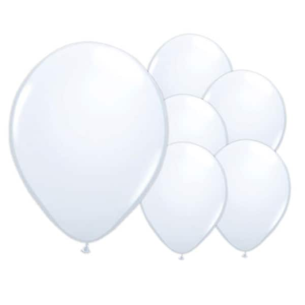 Iridescent White Biodegradable Latex Balloons - 12 Inches / 30cm - Pack of 50