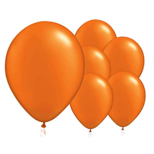 Orange Biodegradable Latex Balloons - 12 Inches / 30cm - Pack of 50